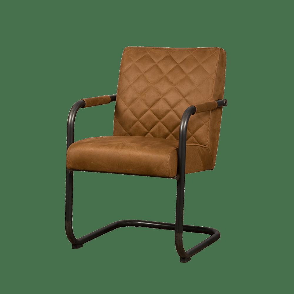 Stoel - Eetkamerstoelen - Civo armchair - bull cognac