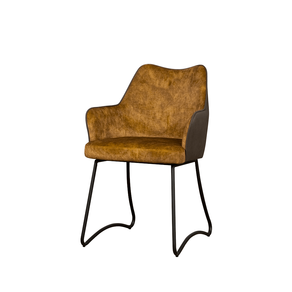 Stoel - Eetkamerstoelen - Garda armchair - yellow yc1939-6 / anthracite ybf-390
